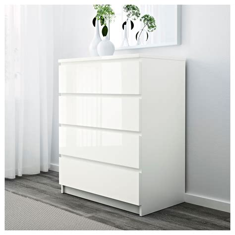 ikea white high gloss bedroom furniture ikea malm chest of 4 drawers 80x100cm white high gloss
