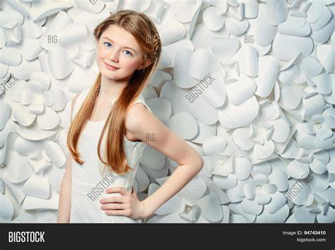 beautiful teen beautiful blonde teen girl wearing image photo bigstock