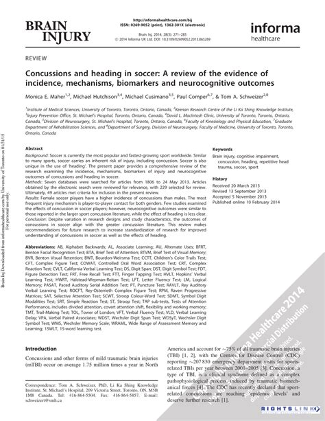 research paper on concussions in football concussions and heading in soccer a pdf