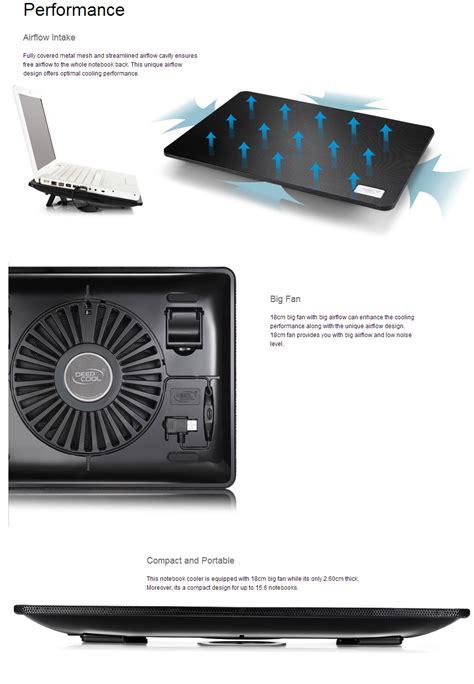 deepcool n1 notebook cooler black nb n1 bk pc gear