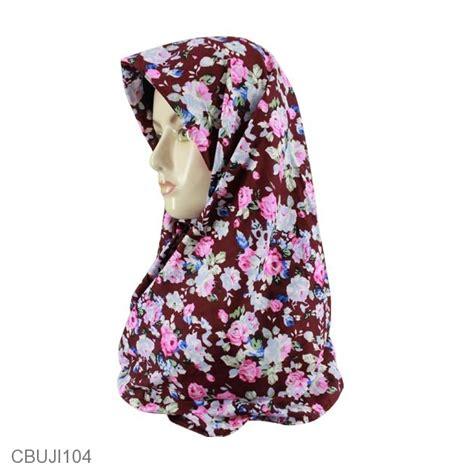 Segi Empat Katun Silky Sale jilbab segi empat katun ima motif bunga jilbab