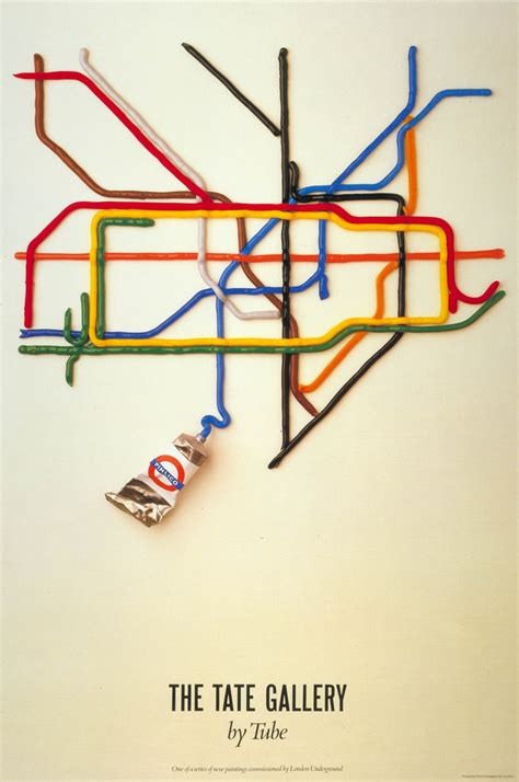 graphics design uk posters tate gallery by tube