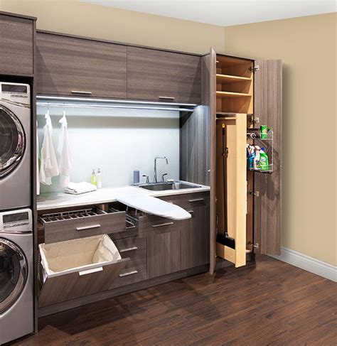 Cabinets For A Laundry Room Pull Out Laundry Room Cabinet With Ironing Board Transitional Laundry Room