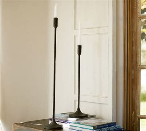 Grand Standing Taper Candleholder   Pottery Barn