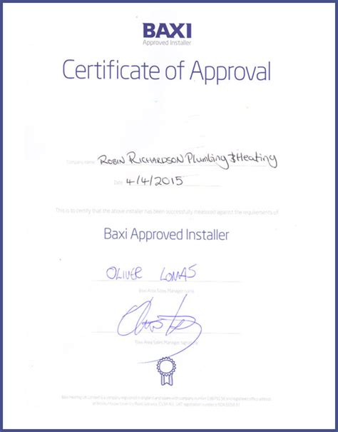 robin richardson plumbing heating qualifications
