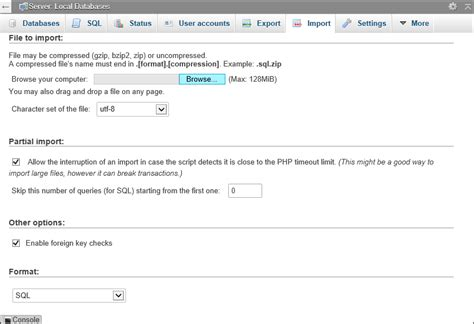 php tutorial home and learn php tutorials how to import a mysql database into phpmyadmin