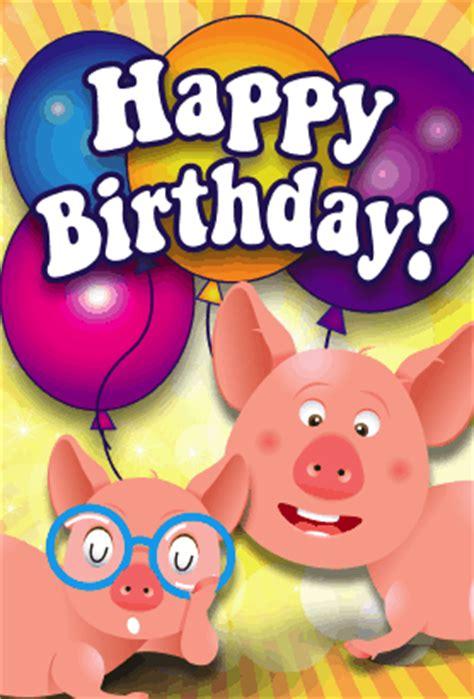 Pig Birthday Cards Printable