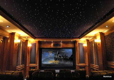 Theatre Ceiling by I The Starry Ceiling In This Home Theater Wired By