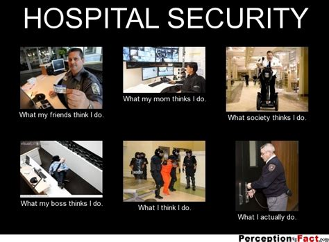Security Meme - hospital security what people think i do what i