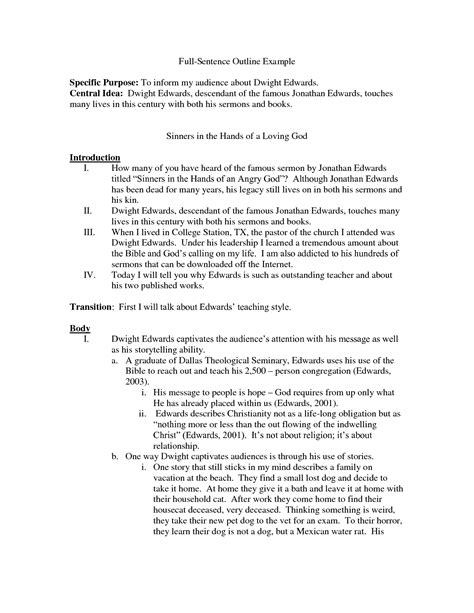 sle of essay outline sentence of a research paper 28 images research