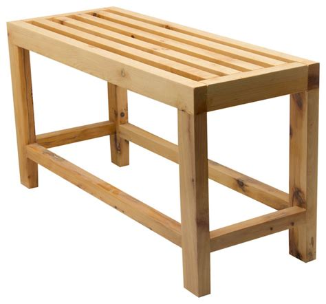 Bathroom Benches Slatted Wood Sitting Bench Contemporary Shower Benches