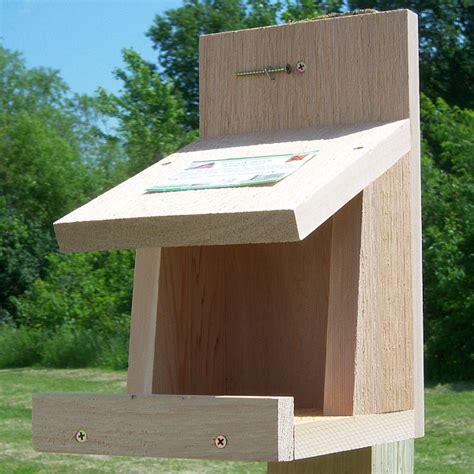 robins roost nesting platform quality cedar nesting shelf