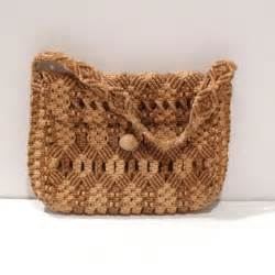 Macrame Thread Bags - macrame bag knotted purse macrame handbag macram 233