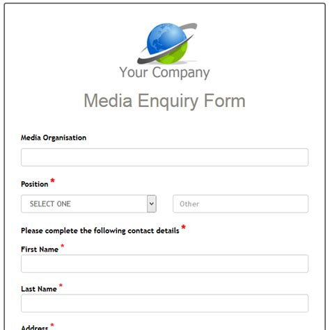 customer enquiry form template word formwize exles