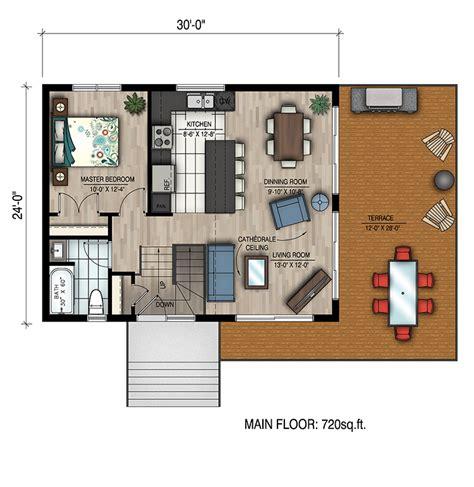 4 Bedrm 720 Sq Ft Bungalow House Plan 158 1319 720 Square Foot House Plans