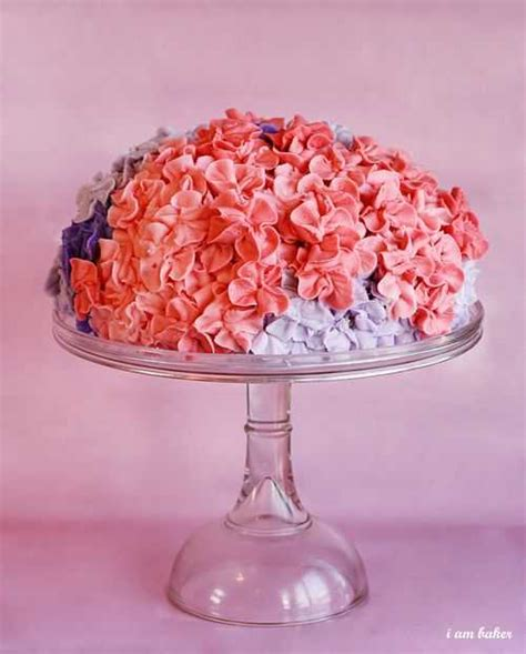 hydrangea cake hydrangea cake and a virtual baby shower i am baker