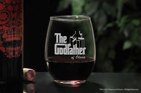 godparent stemless wine glass will you be my godpar gift
