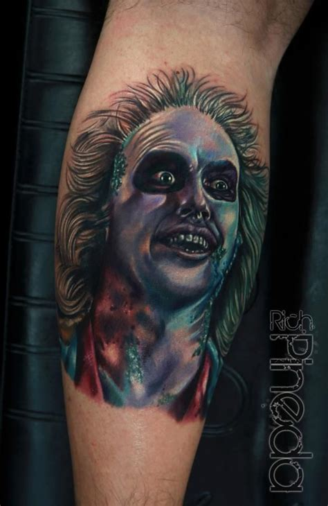 beetlejuice tattoo beetlejuice by rich pineda tattoos