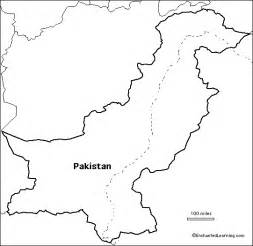 Afghanistan Pakistan Map Outline by Outline Map Pakistan Enchantedlearning