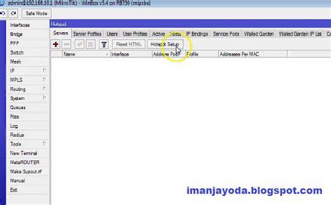 cara membuat hotspot gateway mikrotik cara membuat hotspot di mikrotik rb 750 iman jayoda
