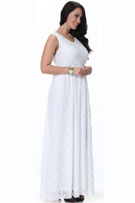 Womens Plus Size Wedding Dresses by Unomatch Wedding Sleeveless V Neck Plus Size Dress