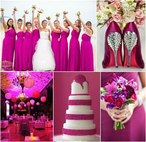 Wedding Colour Themes Pink | sangria pink wedding party theme ideas read more www