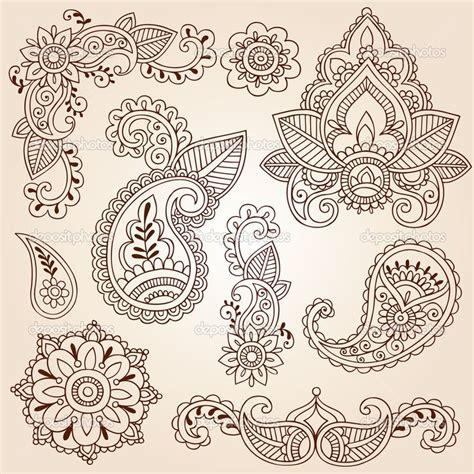 henna pattern vector mandala flower tattoo henna mehndi paisley flowers
