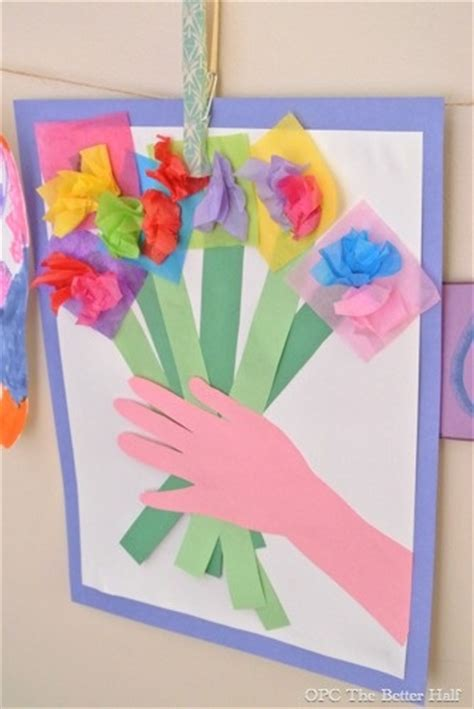 Paper Flower Bouquet Craft - paper flower bouquet s day craft for let