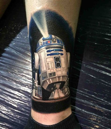 r2d2 tattoo r2 d2 on my leg done by kegan hawkins ink n iron in