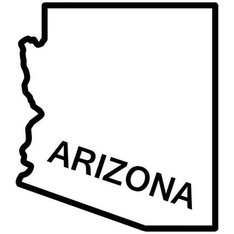 arizona state colors arizona state outline decal sticker available in 19