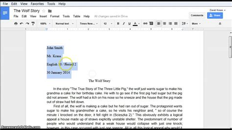 mla format for google docs youtube