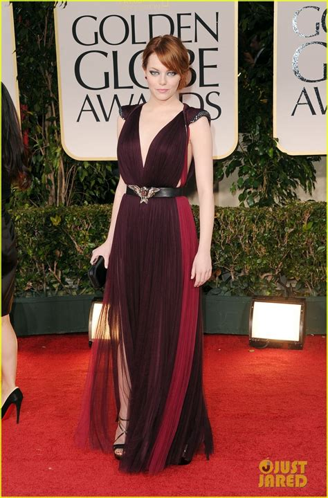 emma stone red carpet emma stone golden globes 2012 red carpet photo 2618542