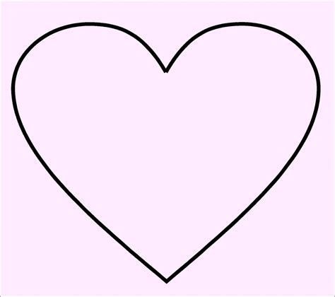 free printable heart shape template