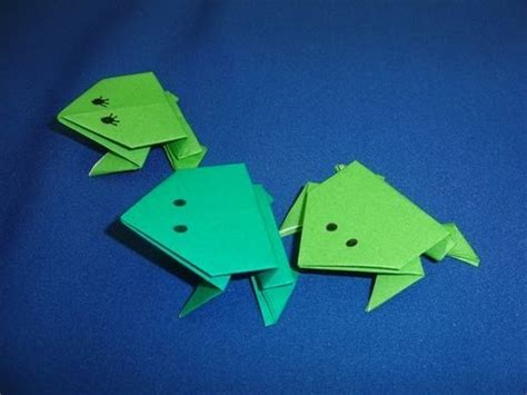 Origami Hopping Frog - how to make origami jumping frogs