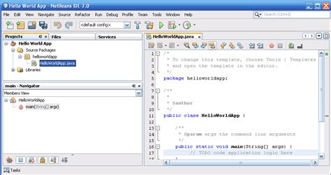 netbeans tutorial for php netbeans ide with the helloworldapp project open