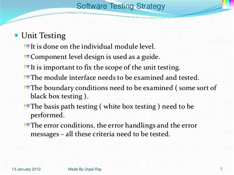 strategy pattern unit test 11 software testing strategy