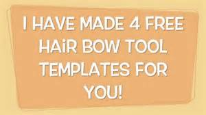 bow maker template free hair bow tool templates