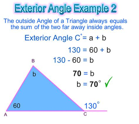 Finding Interior Angles by Exterior Angle Of A Triangle Passy S World Of Mathematics