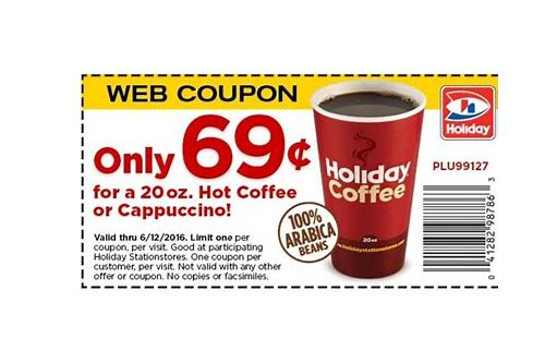 holiday cappuccino coupon