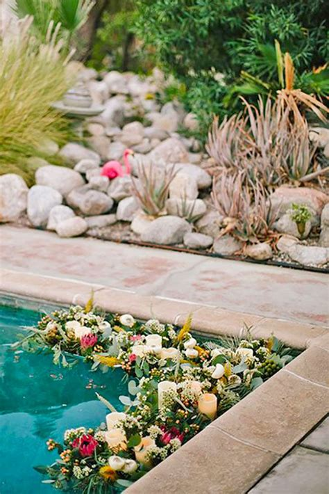 backyard pool wedding ideas best 25 backyard wedding pool ideas on pool