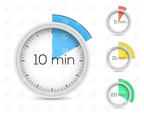 timer 10 mintues set of timers for 5 10 15 and 20 minutes 16362 objects