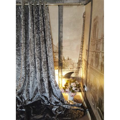 velvet silver curtains huge heavy silver crushed velvet 126 quot d 128 quot w blackout