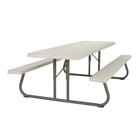commercial picnic tables and benches lifetime products 80123 8 ft putty commercial folding