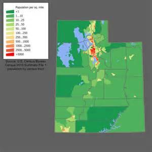 Utah Elevation Map by File Utah Population Map Png