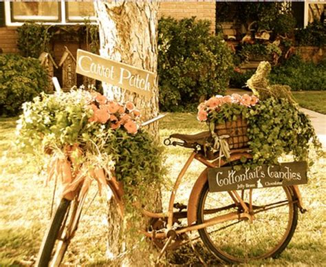 garden decoration cycle upcycling bikes in the garden 14 ideas for bicycle planters