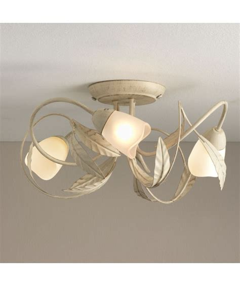 buy elana 3 light semi flush ceiling fitting and