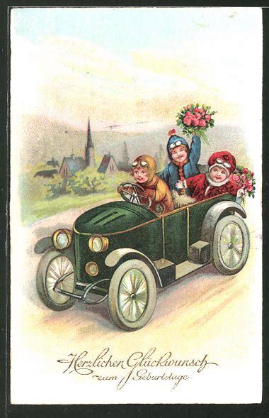 Kinder Auto Zum Fahren by Ak Kinder Fahren Mit Einem Auto Geburtstag Nr 7538010