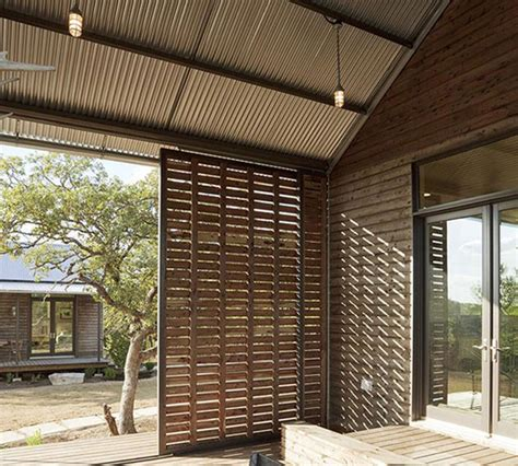 Sliding Louvered Patio Doors by Lake Flato Porch House At Miller Ranch Porch By Lake