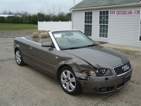 audi a4 convertibles for sale 2006 audi a4 1 8 turbo convertible salvage for sale
