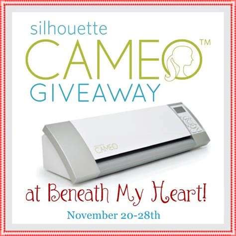 Silhouette Giveaway - silhouette cameo giveaway beneath my heart